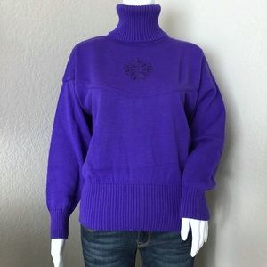 Vintage Bogner 80's Apres Ski Sweater Wool Purple
